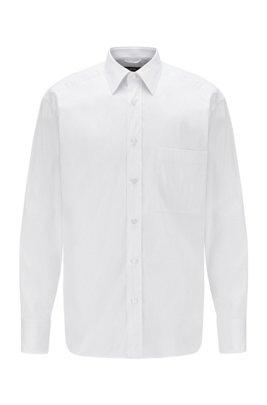 Relaxed-fit overhemd van een katoenmix, Wit