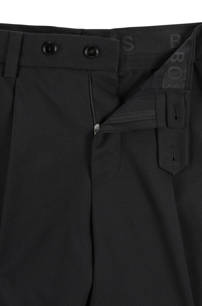 Oversized broek van een katoenmix met microdessin