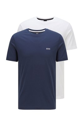 Two-pack of performance T-shirts in S.Café® jersey, Dark Blue
