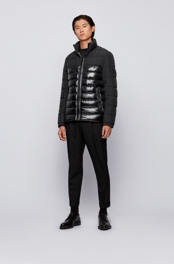 Water-repellent hybrid jacket with recycled filling