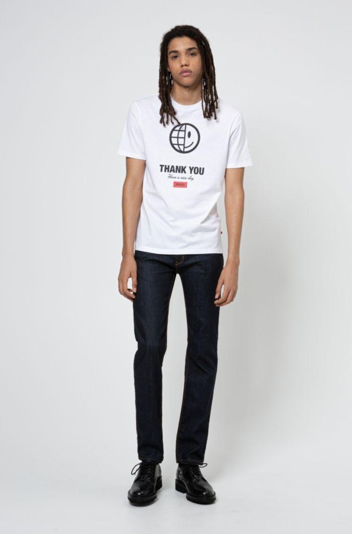T-shirt mixte en coton biologique avec motif graphique emblématique de la collection