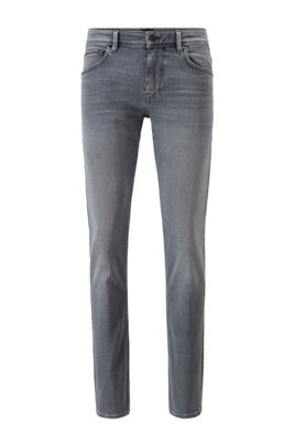Extra-slim-fit jeans in grey soft-touch denim, Light Grey