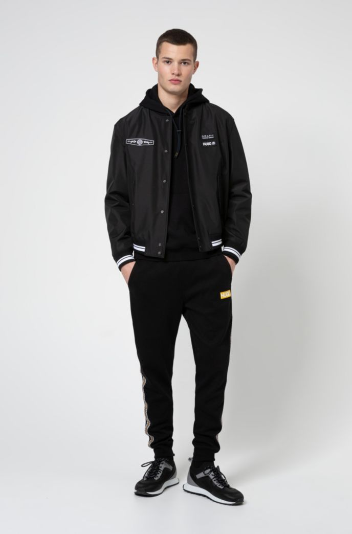 Relaxed-fit bomber jacket with statement artwork