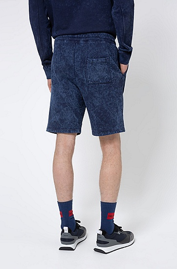 渐变色抽绳 Recot²® 品牌宣言图案印花短裤,  460_淡蓝色
