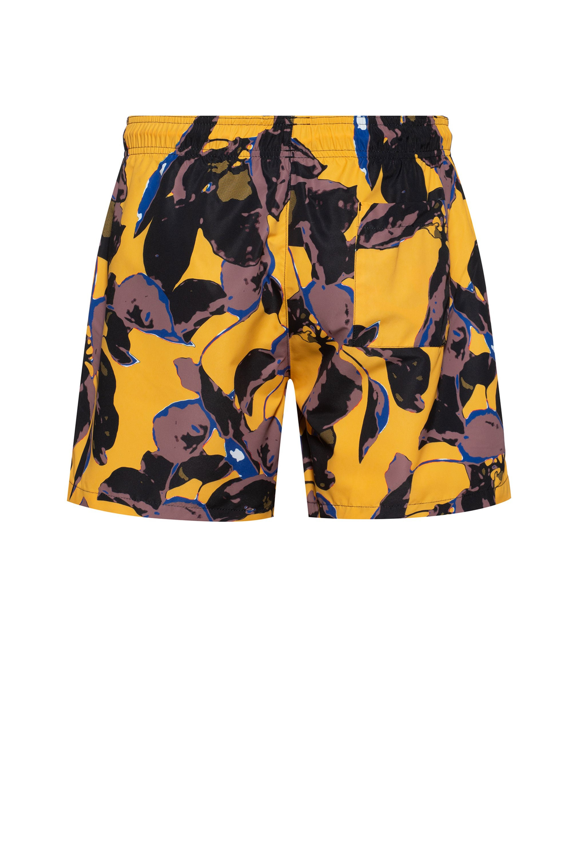 Printed swim shorts in recycled material with brushed finish