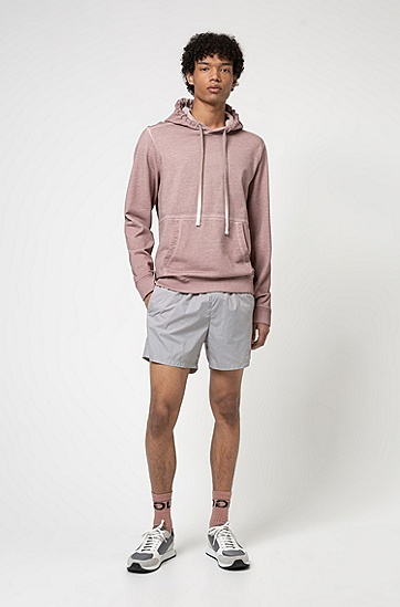 带帽运动衫®带有宣言标志的棉质面料,  239_Light/Pastel Brown