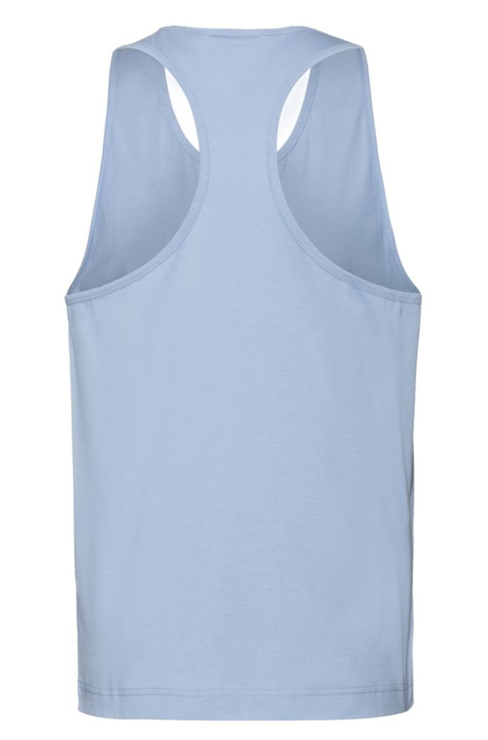 Relaxed-fit tank top in cotton with rubberised logo