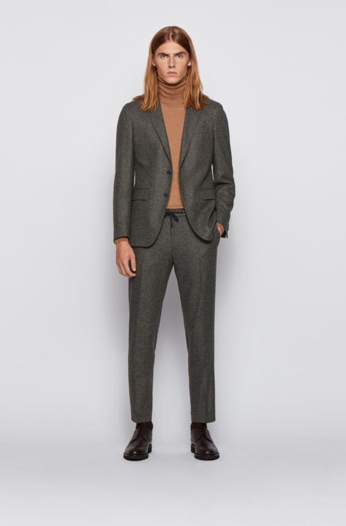 Slim-fit trousers in a tweed wool blend