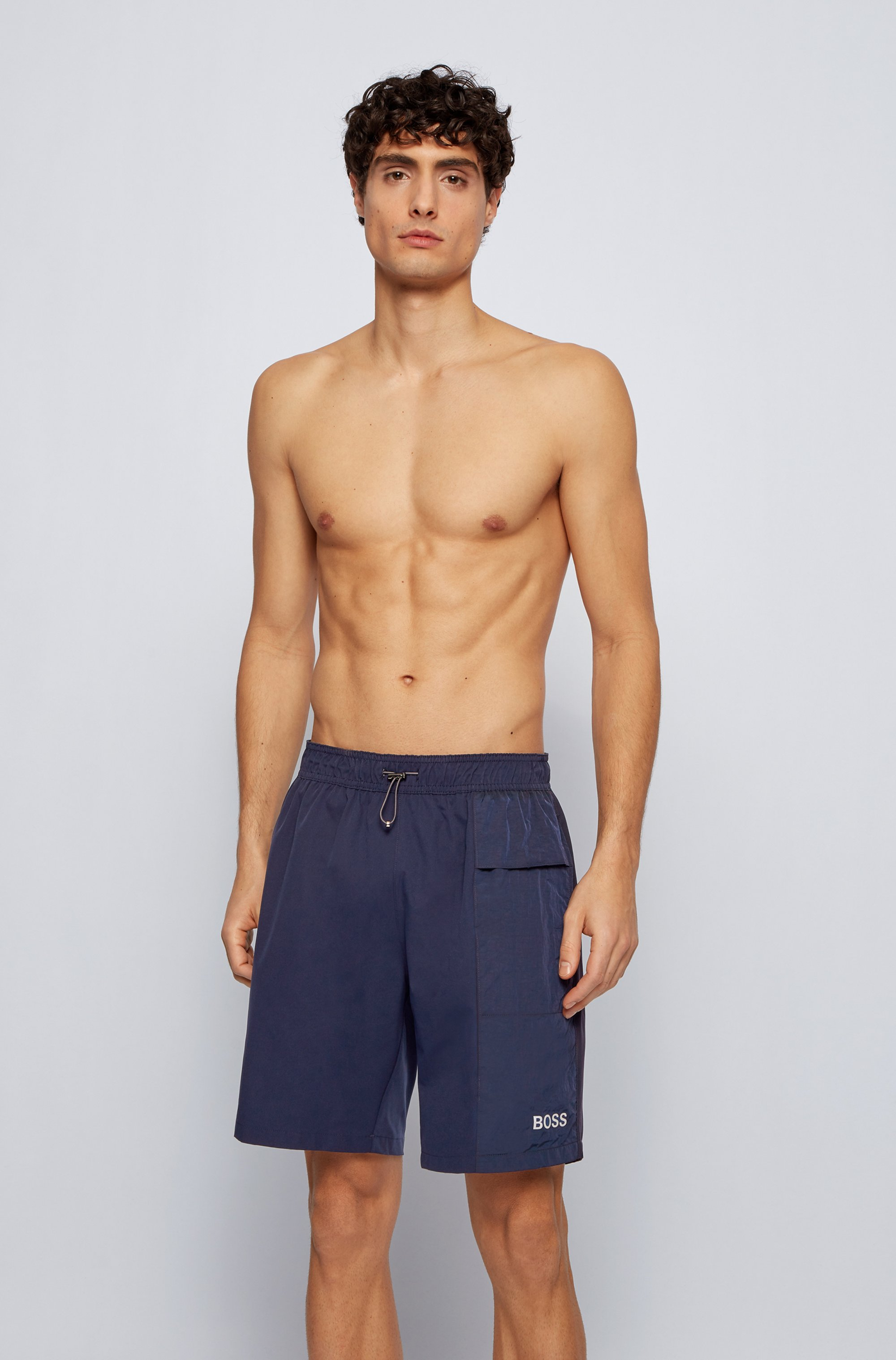 Fully lined swim shorts in quick-dry stretch fabric