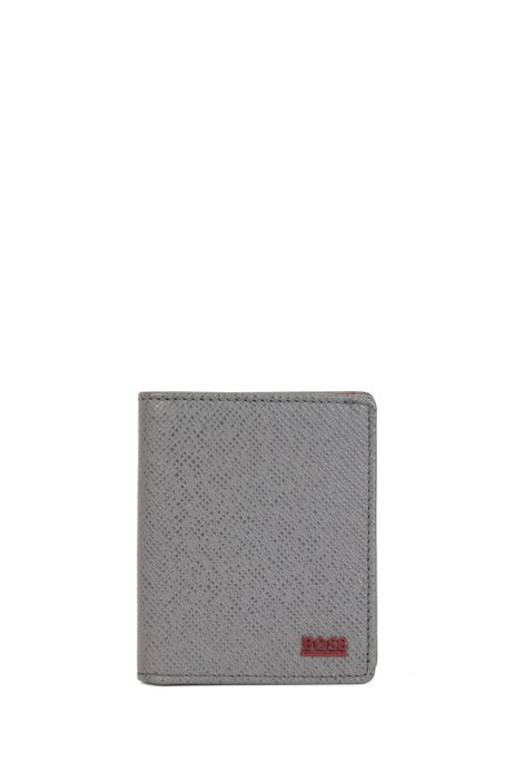 Signature Collection folding wallet in palmellato leather, Grey