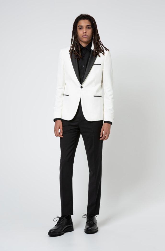 Extra Slim-Fit Smoking-Jacke aus Baumwoll-Samt
