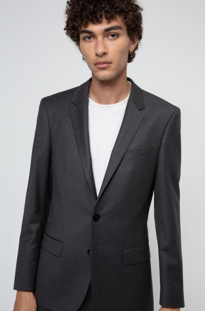 Slim-fit suit in stretch virgin wool