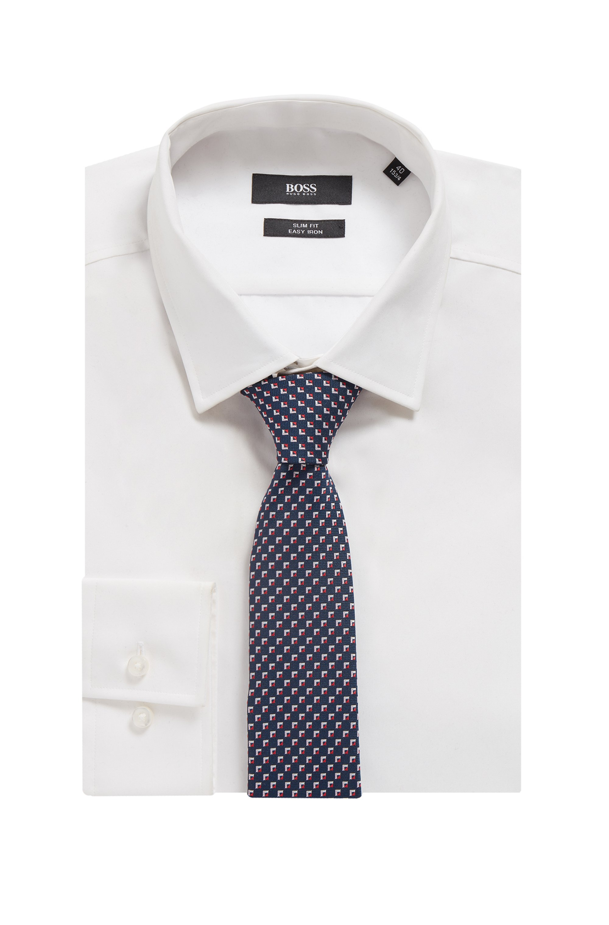 Micro-patterned tie in recycled material