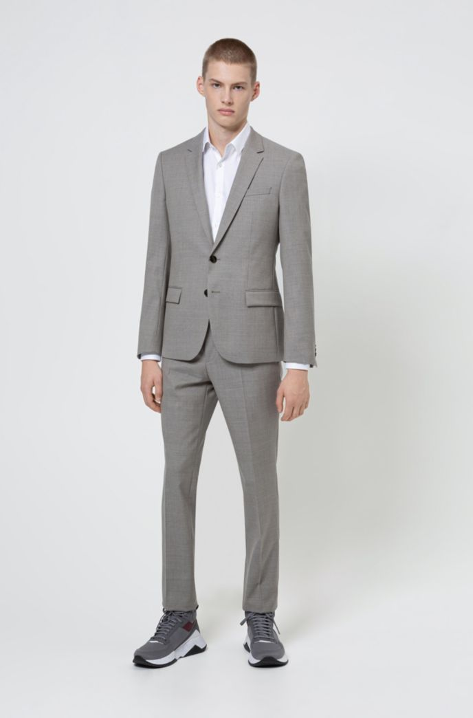 Slim-fit shirt with all-over structure