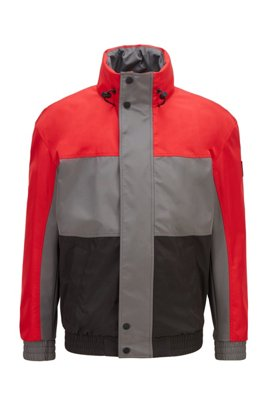 Water-repellent softshell jacket in recycled two-layer fabric, Red