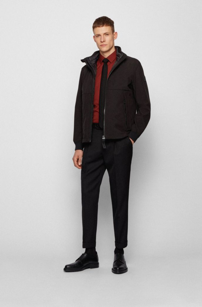 Three-in-one jacket with detachable vest and hood