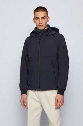 Three-in-one jacket with detachable vest and hood, Dark Blue
