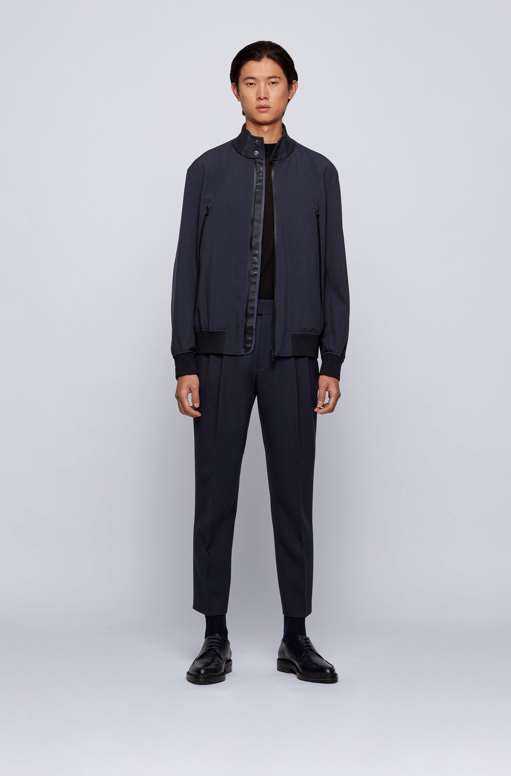 Regular-fit blouson jacket in water-repellent fabric