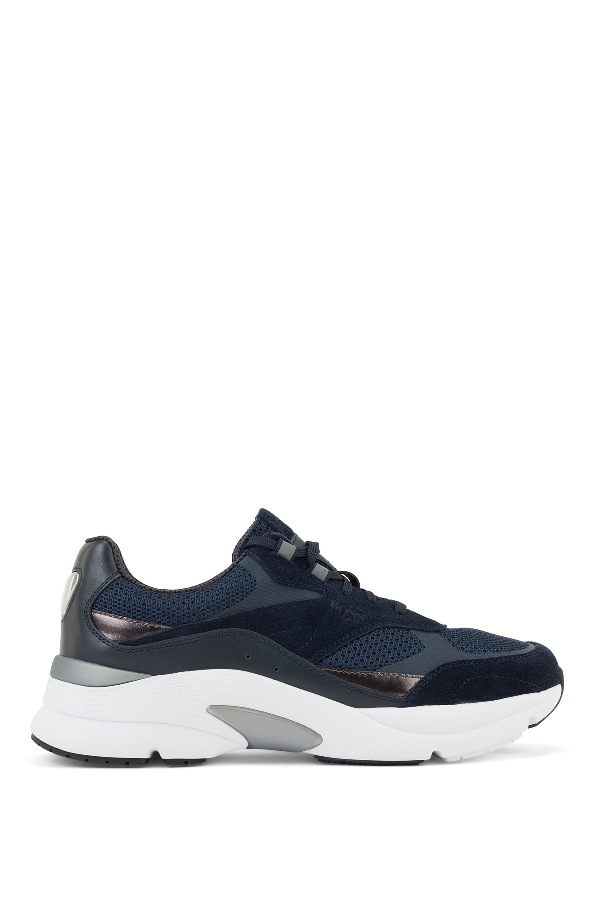 Hybrid running trainers with reflective details, Dark Blue