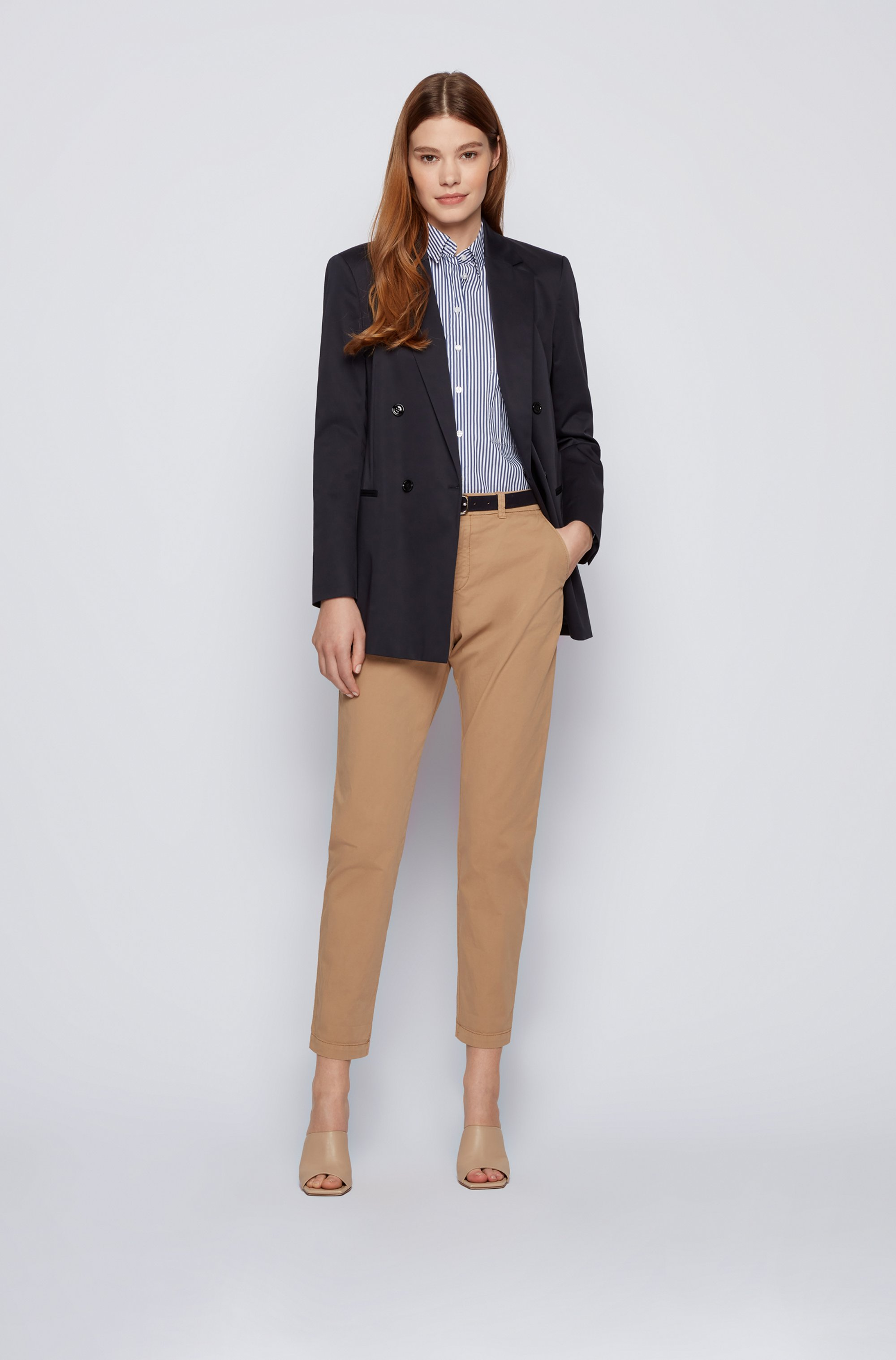 Regular-fit chinos in organic stretch cotton