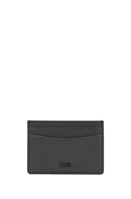 Signatureコレクション レザーカードホルダー パルメラートエンボス, ブラック