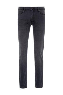 Extra-slim-fit jeans in grey comfort-stretch denim, Dark Grey