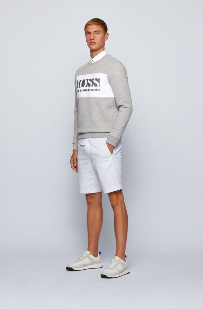 Slim-fit logo sweatshirt with colour-blocking