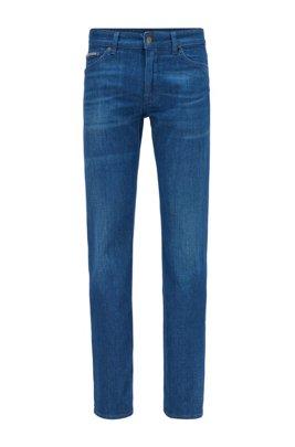 Regular-Fit Jeans aus besonders softem Denim, Blau