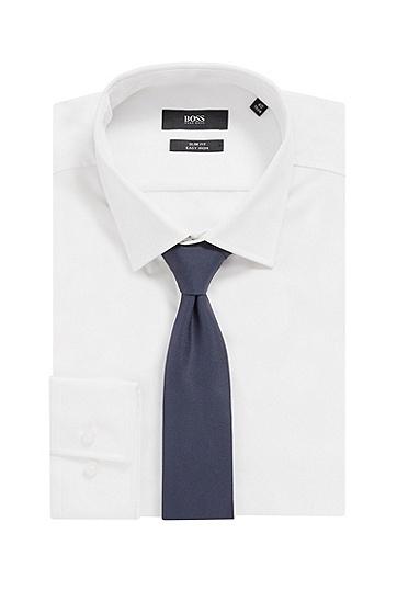 意大利制造纯真丝领带,  402_暗蓝色