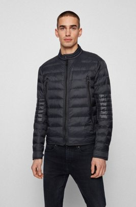 Lightweight quilted jacket in 100% recycled materials, Black
