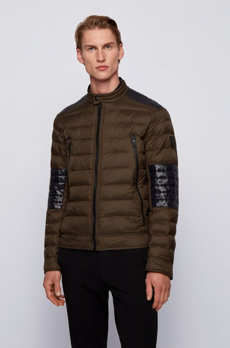 Lightweight quilted jacket in 100% recycled materials, Brown