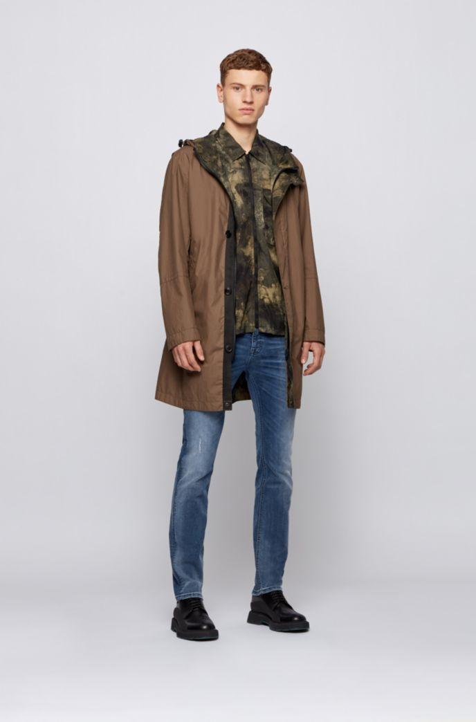 リバーシブル フーデッドジャケット デジタルプリント カモフラージュモチーフ
