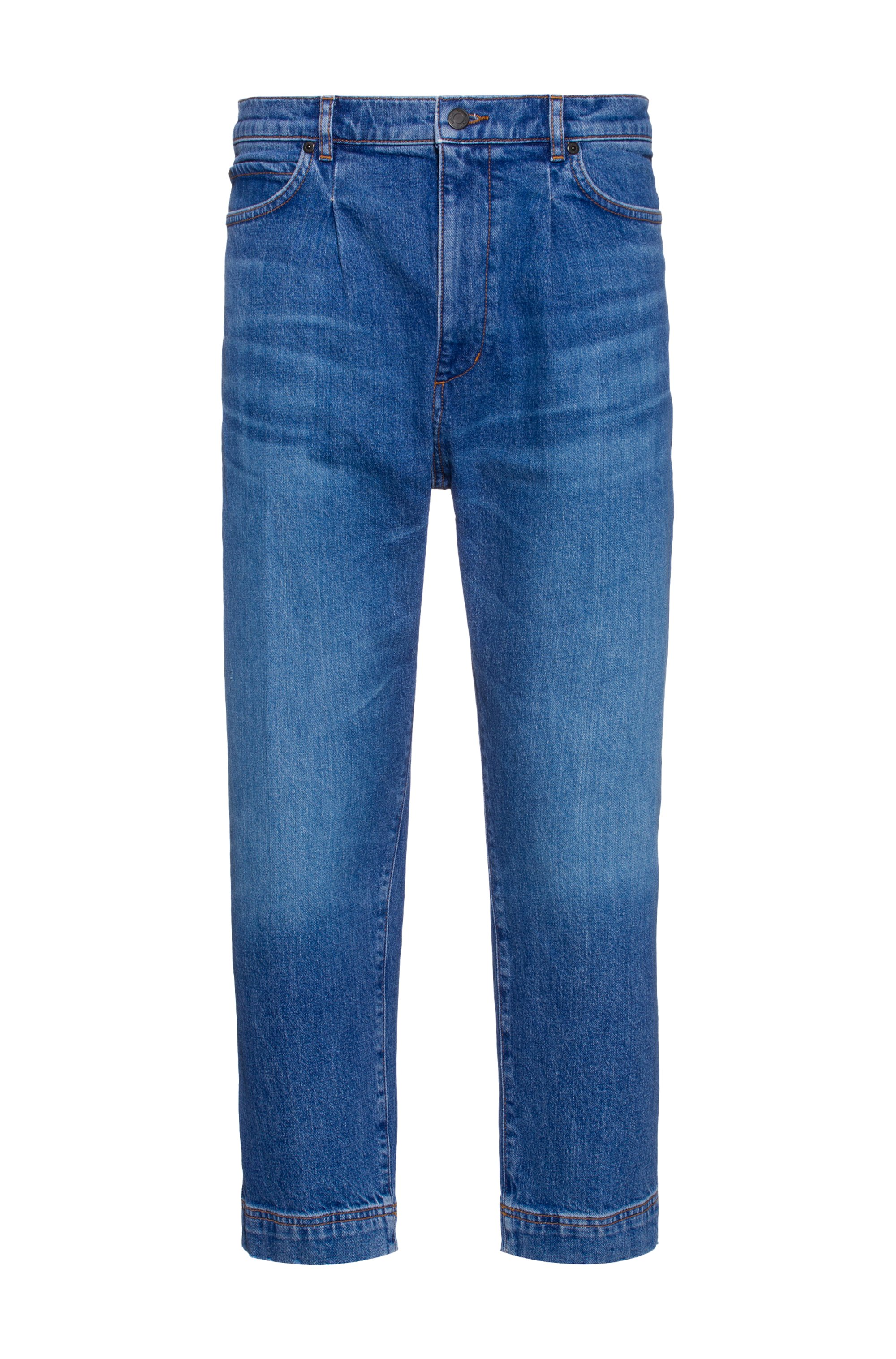 Relaxed-fit jeans in blue comfort-stretch denim, Blue
