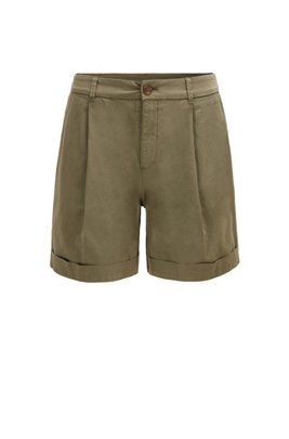 Relaxed-fit chino shorts in organic stretch cotton, Khaki
