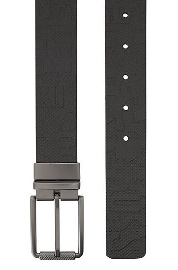 牛皮剖层革商务皮带,  003_黑色