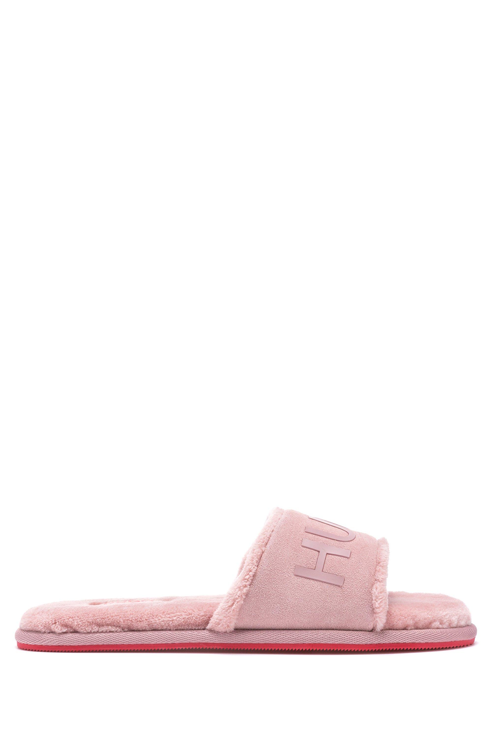 Slippers in instapstijl met bovenzijde van splitleer, Pink
