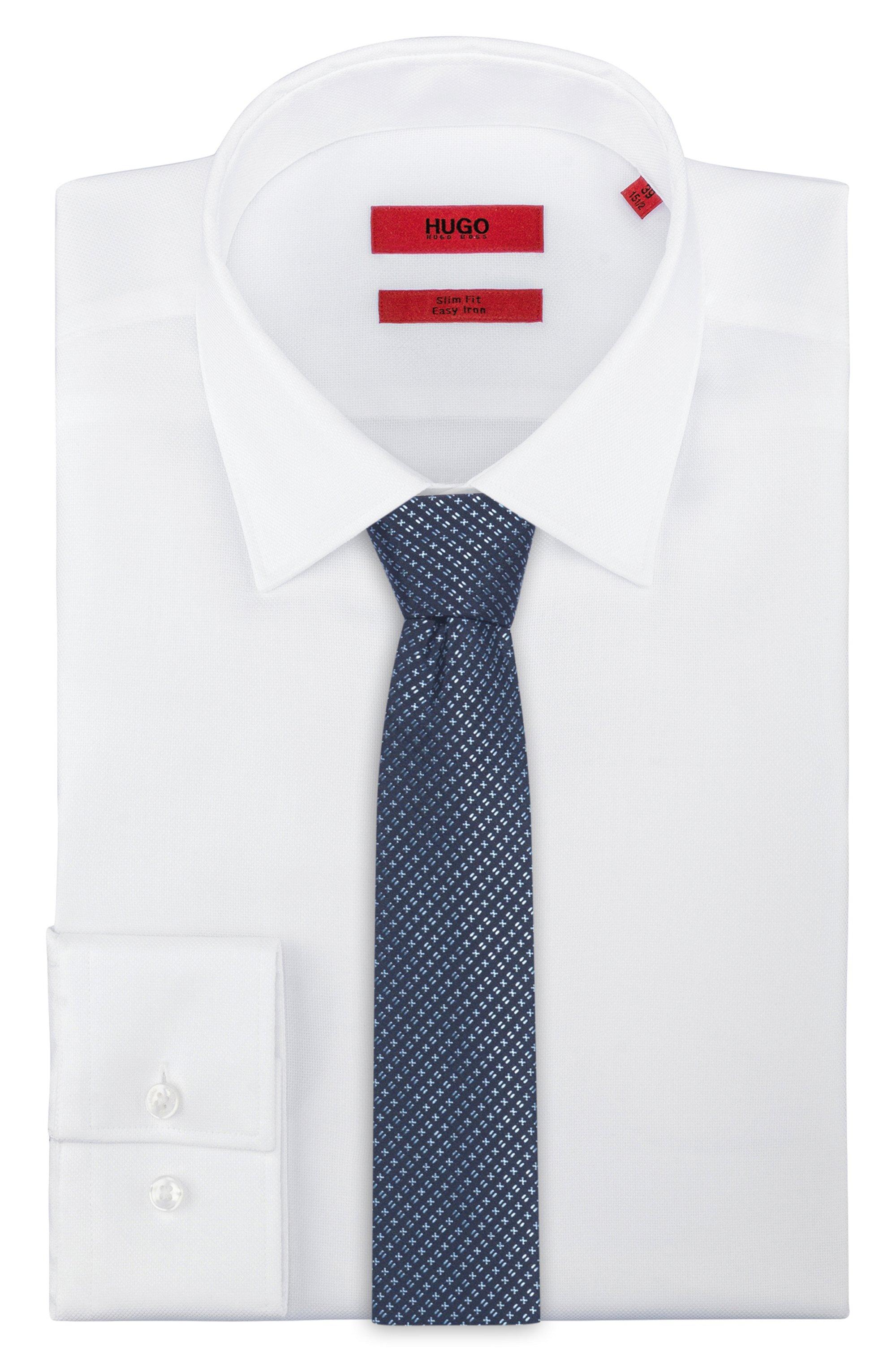 In Italië vervaardigde stropdas in een jacquard van zijde met microdessin