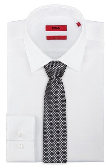 微图案真丝提花领带,  001_黑色