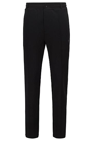 系列主题反光艺术风装饰宽松运动裤,  001_黑色
