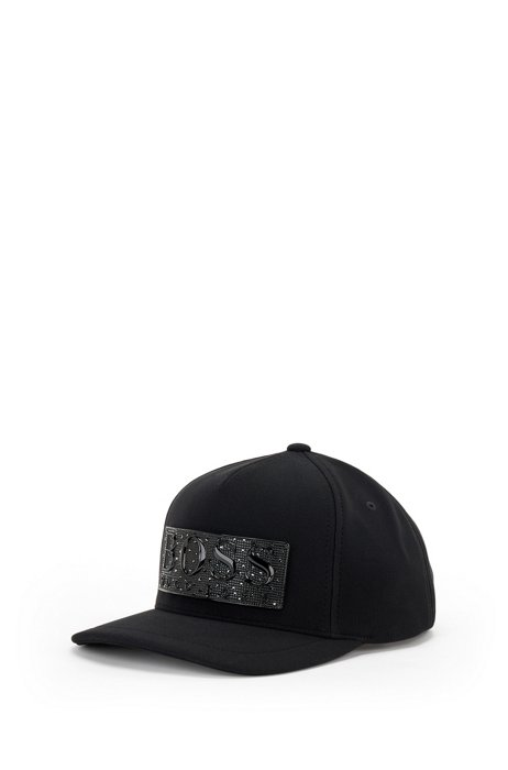 Gift-boxed cap with crystal logo, Black
