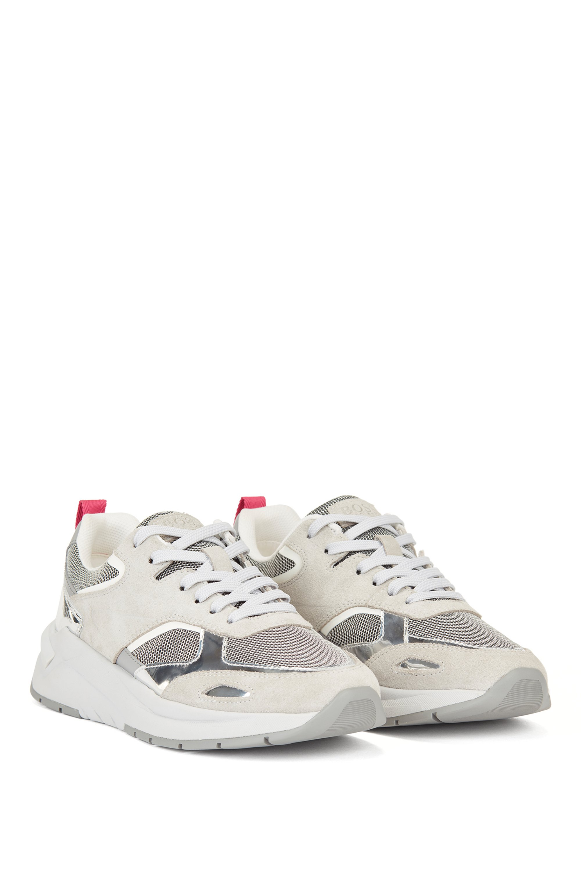 Hybrid trainers with metallic details