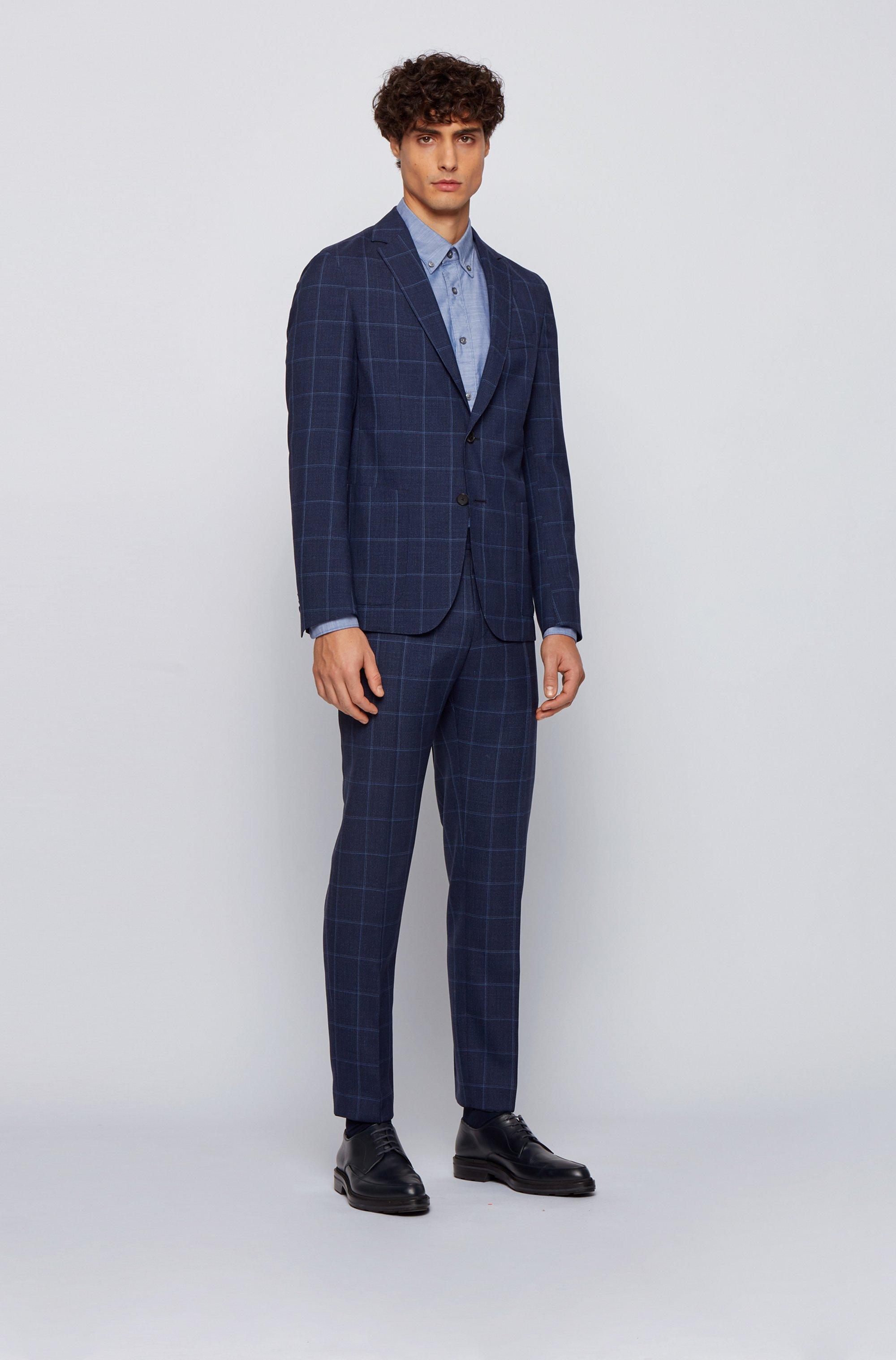 Chemise Slim Fit en coton stretch à logo brodé