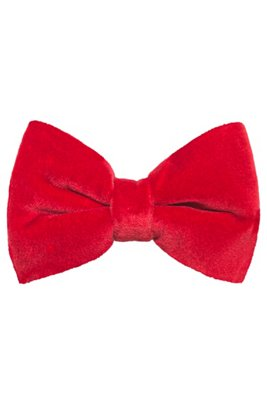 Bow tie in velvet, Light Red