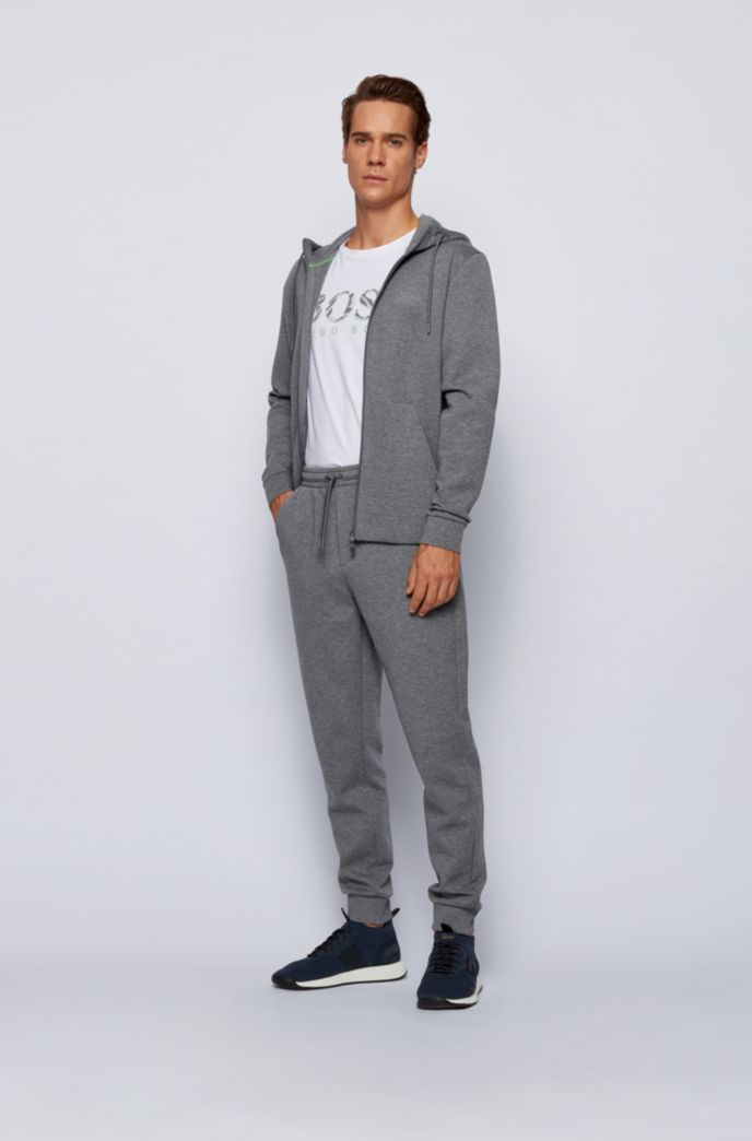Sweatshirt and jogging trousers set in double-faced fabric