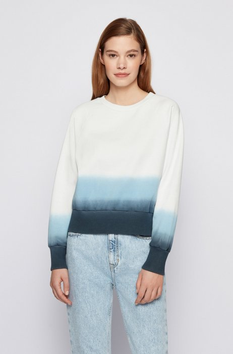 Relaxed-fit dégradé sweatshirt in cotton-blend terry, Patterned