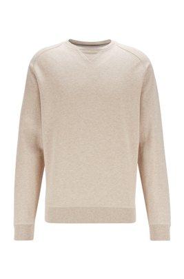 Sweatshirt aus Bio-Baumwolle und Hanf mit Logo hinten, Beige
