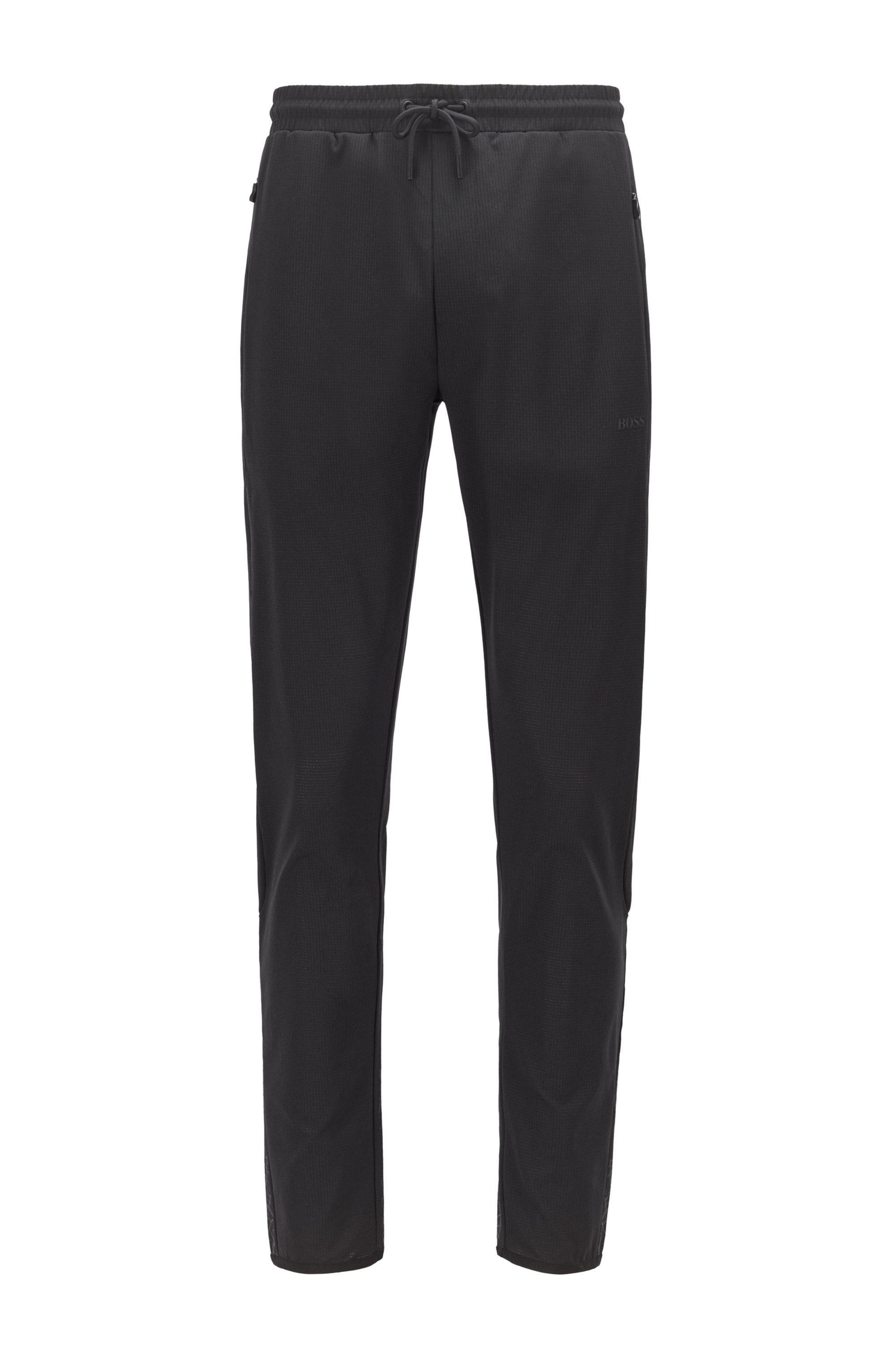 Pantaloni della tuta regular fit con stampa botanica, Nero