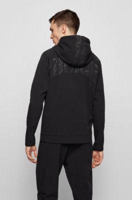 BOSS Hoodie Schwarz Black Hugo Boss Pullover Hoody Sweater Kapuzenpullover Neu