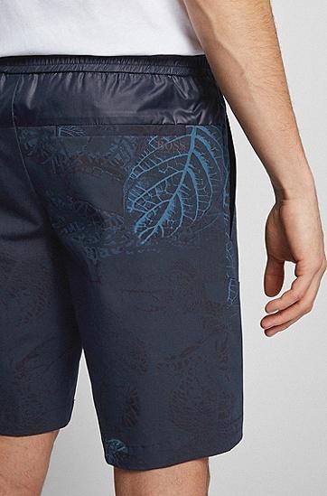 植物印花轻盈修身短裤,  961_Open Miscellaneous