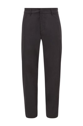 Slim-fit water-repellent trousers in stretch fabric, Black
